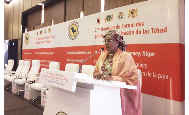 SECURITE : Le cri de cœur de la Première Dame Aissata Issoufou au Forum des Gouverneurs de la CBLT