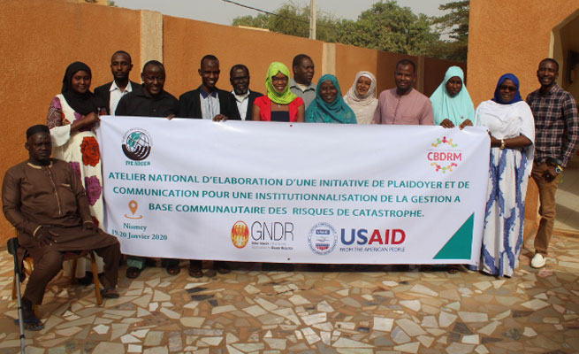 ATELIER : Les Jeunes Volontaires pour l'Environnement du Niger plaident pour l'institutionnalisation d'une Gestion durable à Base Communautaire des Risques de Catastrophe.