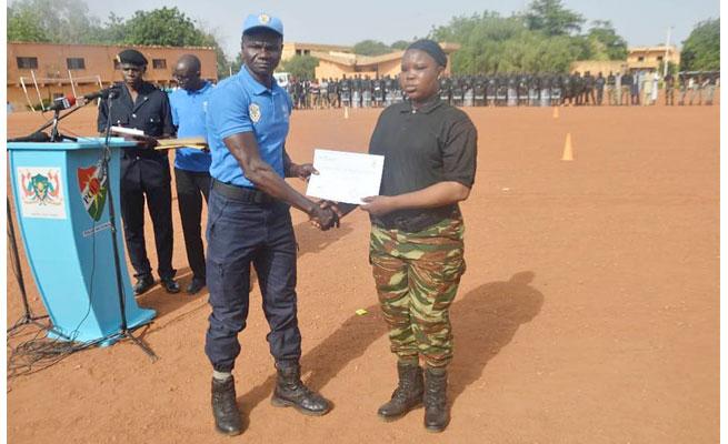 Sécurité : fin de formation de 146 agents des Forces de Sécurité