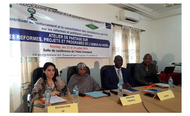 PASOC 3 Niger : Edifier les acteurs de la société civile sur les reformes de l'UEMOA et du Gouvernement pour une meilleure gestion des finances publiques