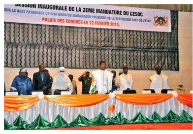 SOCIÉTÉ : Installation officielle des membres du CESOC 2017-2022.