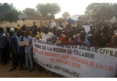 Tillabery : La société civile se soulève contre la Loi des Finances 2018