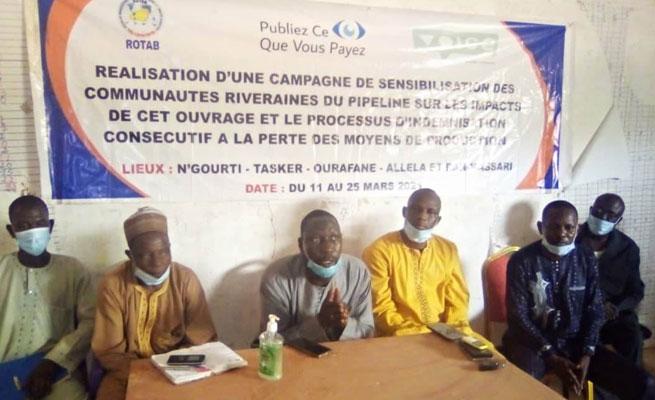 SOCIÉTÉ: Le ROTAB en campagne de sensibilisation et d'information des communautés riveraines sur les impacts socio-économiques du pipeline Niger-Benin